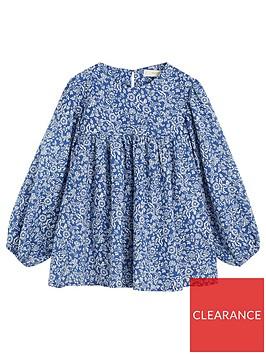 mango-girls-floral-print-boho-blouse-blue