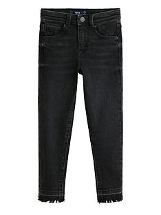 mango-girls-frayed-hem-skinny-jeans-black