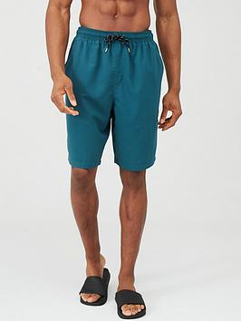 very-man-basic-longer-length-swimming-shorts-teal