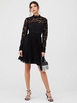 v-by-very-lace-insert-skater-dress-black