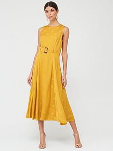 ted-baker-a-line-belted-midi-dress-yellow