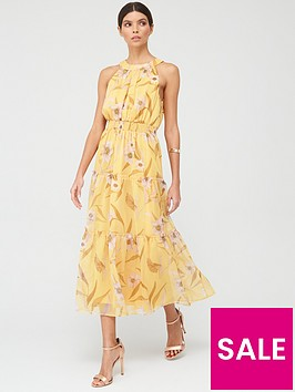 ted-baker-cabana-printed-tiered-midi-dress-yellow