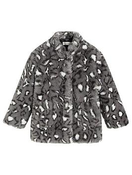 mango-girls-faux-fur-leopard-print-coat-grey