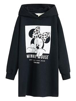 mango-girls-minnie-mouse-hooded-sweat-dress-black
