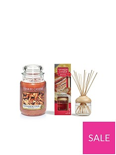yankee-candle-cinnamon-sticks-large-jar-candle-and-reed-diffuser-bundle