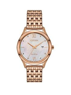 citizen-citizen-eco-drive-mother-of-pearl-date-dial-gold-stainless-steel-bracelet-ladies-watch