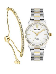 citizen-citizen-white-with-gold-detail-crystal-set-date-dial-two-tone-stainless-steel-bracelet-ladies-watch-and-swarovski-crystal-toggle-bracelet-gift-set