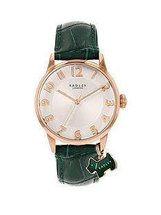 radley-radley-white-and-rose-gold-detail-dial-green-leather-strap-ladies-watch