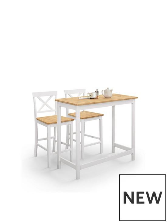 Marlow Bar Table and Set of 2 Stools
