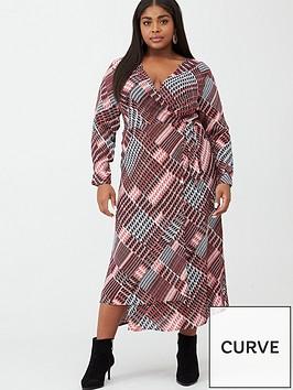 v-by-very-curve-check-print-midi-dress-dogtooth