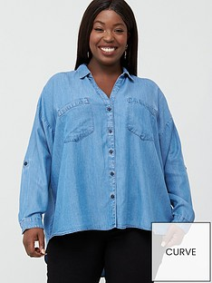 v-by-very-curve-button-through-denim-shirt-light-wash