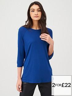 v-by-very-the-essential-three-quarter-sleeve-raglan-t-shirt-navy