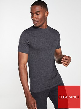 river-island-dark-grey-muscle-fit-short-sleeve-t-shirt