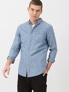 v-by-very-long-sleeved-slub-chambray-shirt-mid-blue