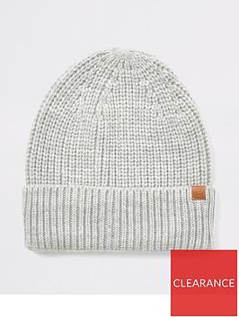 river-island-light-grey-knitted-fisherman-beanie-hat