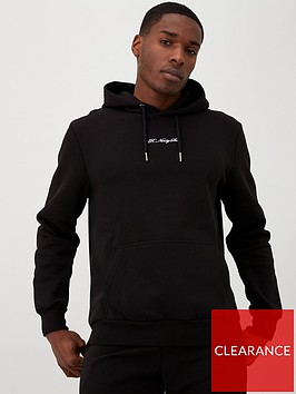 river-island-black-r96-slim-fit-hoodie