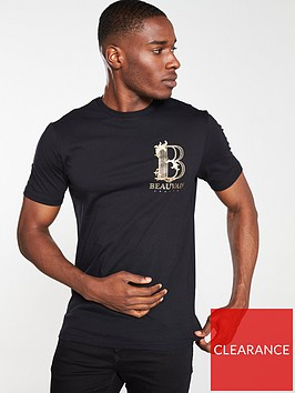 river-island-black-beauvais-studded-slim-fit-t-shirt