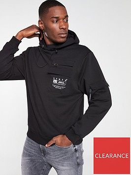 river-island-black-svnth-utility-hoodie