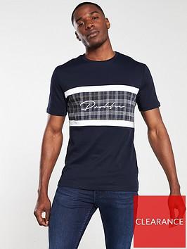 river-island-navy-check-blocked-prolific-slim-fit-t-shirt