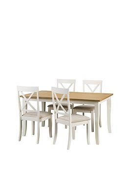julian-bowen-davenport-150cm-dining-table-and-4-chairs