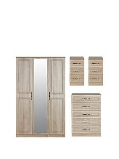swift-winchester-ready-assembled-4-piece-package-3-door-mirrored-wardrobe-chest-of-5-drawers-and-2-bedside-chests