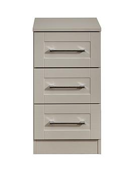 Swift Larson Ready Assembled 3 Drawer Bedside Chest