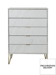 SWIFT Marbella Ready Assembled 5 Drawer Chest