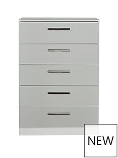 SWIFT Montreal Ready Assembled 5 Drawer Chest