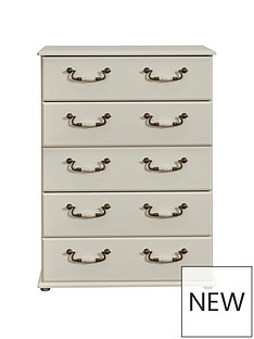 SWIFT Broadway Ready Assembled 5 Drawer Chest