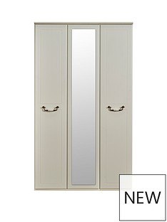 SWIFT Broadway Ready Assembled 3 Door Mirrored Wardrobe