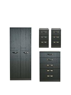 swift-canterbury-4-piece-ready-assembled-package-ndash-2-door-wardrobe-5-drawer-chest-and-2-bedside-chests
