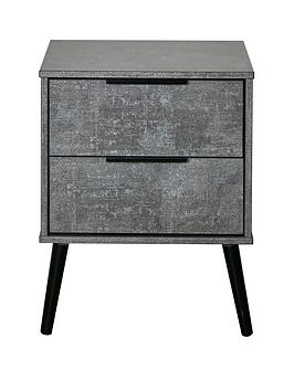 Swift Berlin Ready Assembled 2 Drawer Bedside Chest