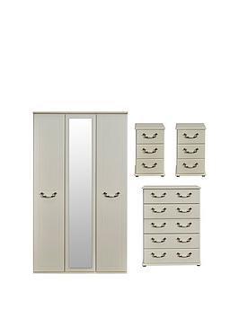 swift-broadway-ready-assembled-4-piece-package-3-door-mirrored-wardrobe-5-drawer-chest-and-2-bedside-chestsbr-nbsp