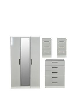 swift-montreal-gloss-ready-assembled-4-piece-package-3-door-mirrored-wardrobe-5-drawer-chest-and-2-bedside-chests