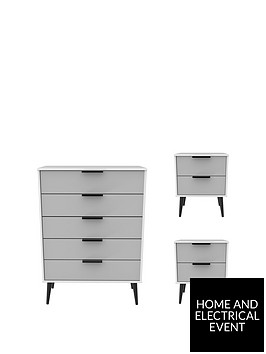 swift-copenhagen-3-piece-ready-assembled-package-5-drawer-chest-and-2-bedside-chests