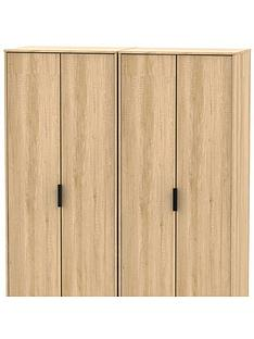 swift-copenhagen-4-piece-partnbspassembled-package-4-door-wardrobe-5-drawer-chest-and-2-bedside-chests