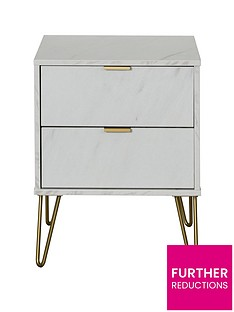 swift-marbella-ready-assembled-2-drawer-bedside-table
