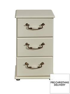 SWIFT Broadway Ready Assembled 3 Drawer Bedside Chest