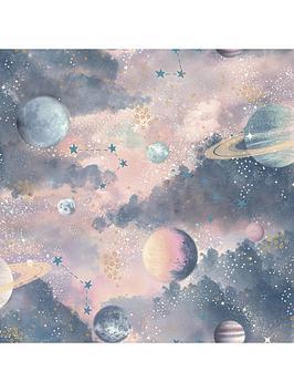 arthouse-glitter-planets-wallpaper