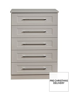 SWIFT Larson Ready Assembled 5 Drawer Chest