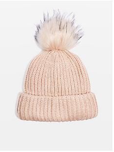 topshop-topshop-knitted-faux-fur-pom-pom-hat-pink