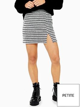 topshop-topshop-petite-button-split-mini-skirt-grey