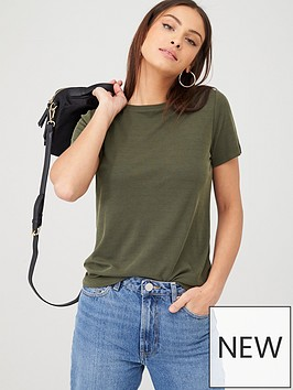 v-by-very-crew-neck-short-sleeve-modal-t-shirt-khaki