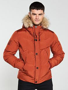 pretty-green-quilted-hooded-jacket-orange