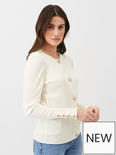 v-by-very-ribbed-puff-sleeve-cardigan-ivory