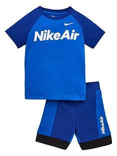 nike-sportswear-air-younger-boys-shorts-set-blue