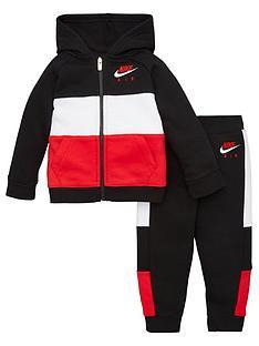 nike-sportswear-air-toddler-boys-full-zip-hooded-tracksuit-blackred