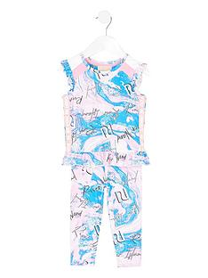 river-island-mini-mini-girls-active-marble-peplum-top-and-legging-set-pinkblue