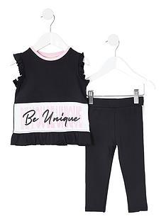 river-island-mini-mini-girls-ri-active-tshirt-and-legging-set-black