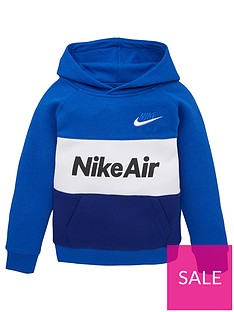 nike-sportswear-air-younger-boys-overhead-hoodie-blue